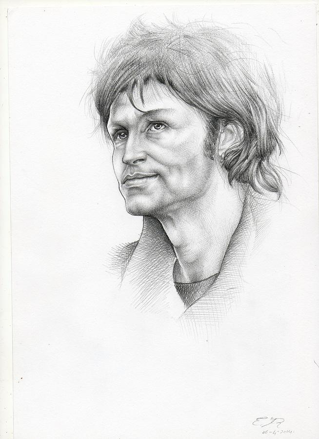 Bertrand Cantat Drawing by Esther Rosier