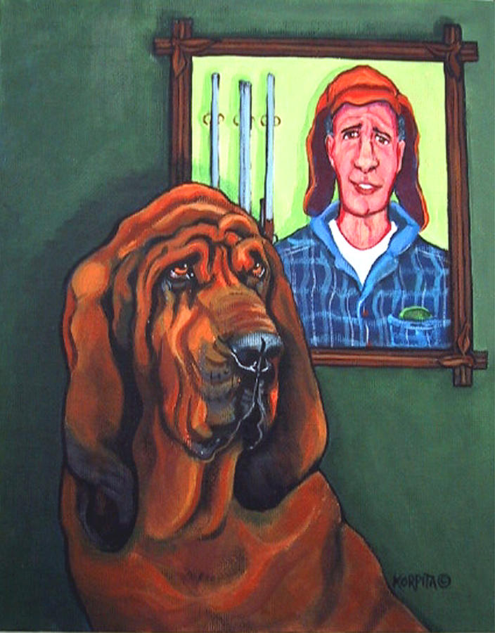 Bervil And Blue Painting  - Bervil And Blue Fine Art Print