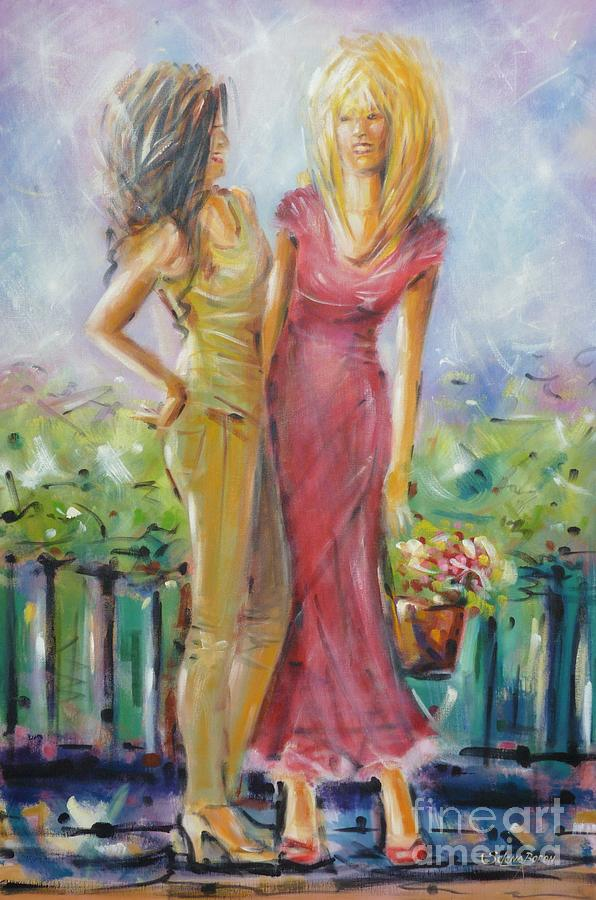 Best Friends 171008 Painting  - Best Friends 171008 Fine Art Print