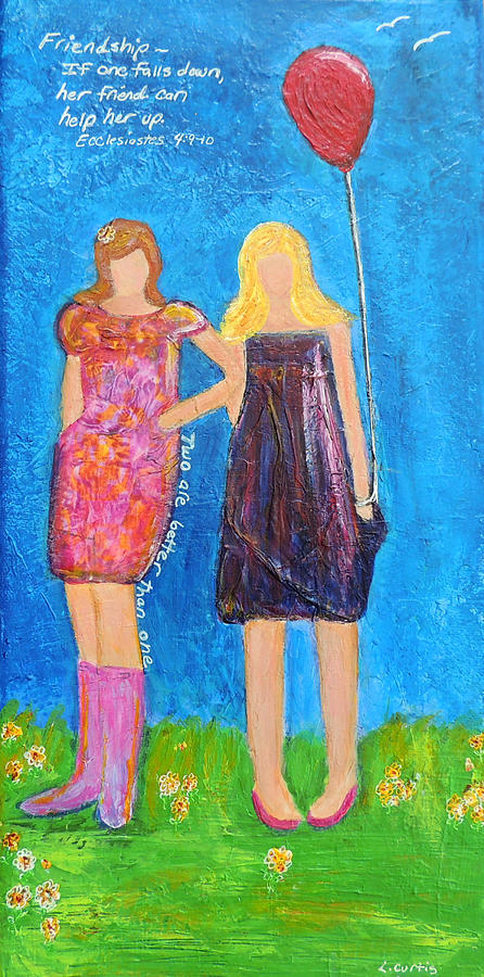 Best Friends.two Are Better Than One. Painting  - Best Friends.two Are Better Than One. Fine Art Print