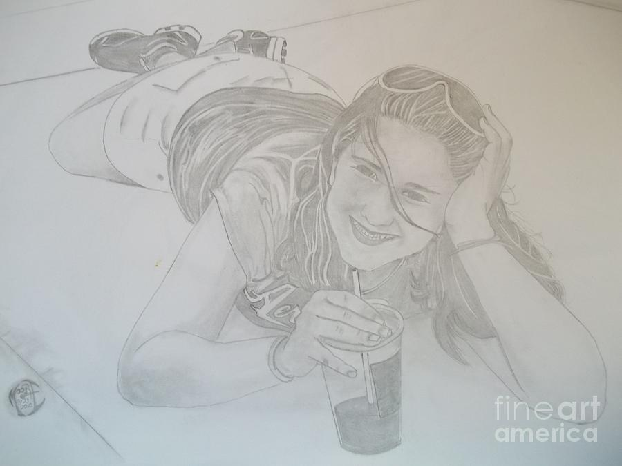 Justin Moore Drawing - Bethany by Justin Moore