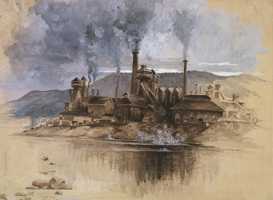 Bethlehem Steel Corporation Circa 1881 Painting