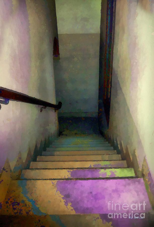 Stairs Painting - Between Floors by RC deWinter