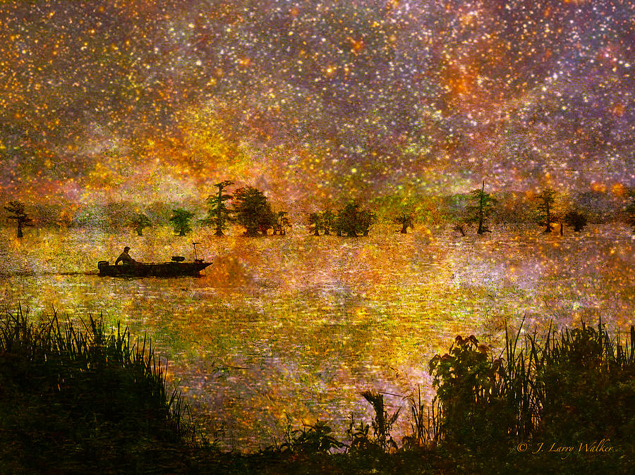 Beyond The Reeds Digital Art  - Beyond The Reeds Fine Art Print