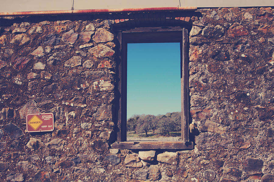 Jack London State Park Photograph - Beyond These Walls by Laurie Search