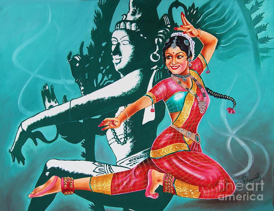 bharatanatyam dance painting - photo #6