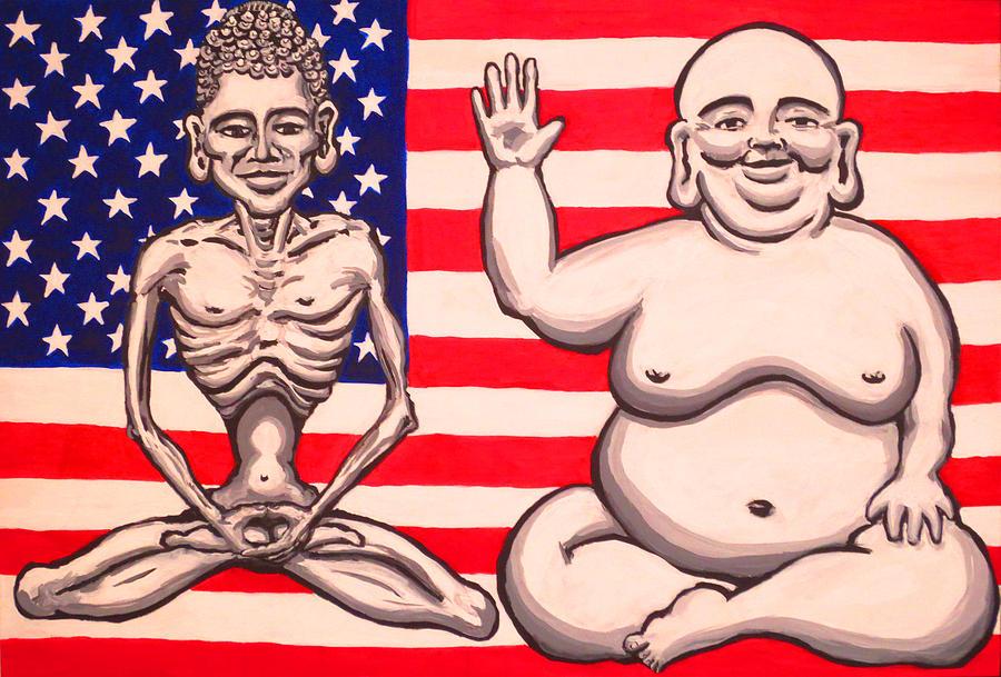 Buddha Painting - Bi-polar Buddha by Nathan Winsor