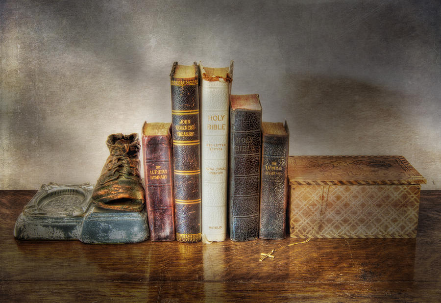 Bibles And Hymnbooks Photograph