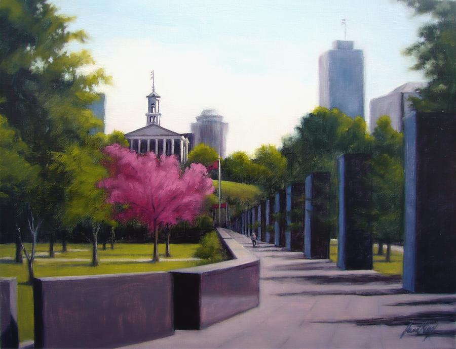 Bicentennial Capital Mall Park Painting  - Bicentennial Capital Mall Park Fine Art Print