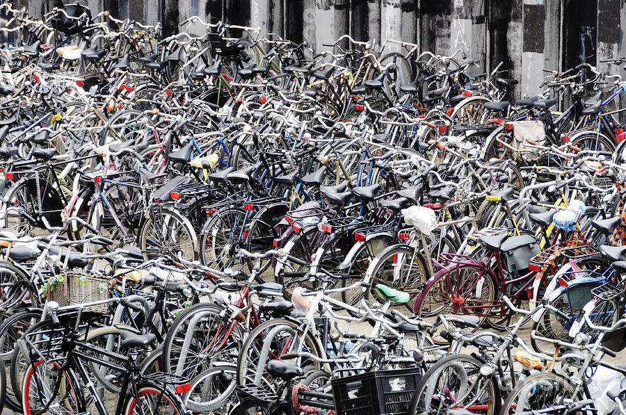 Bicycle Parking Lot Photograph
