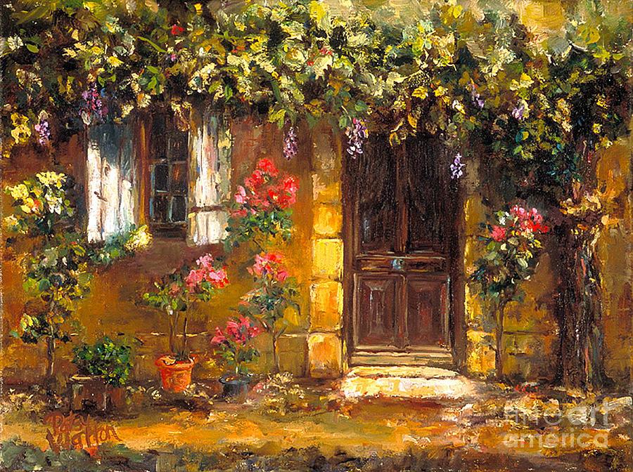Door Painting - Bienvenue A Provence by Patsy Walton