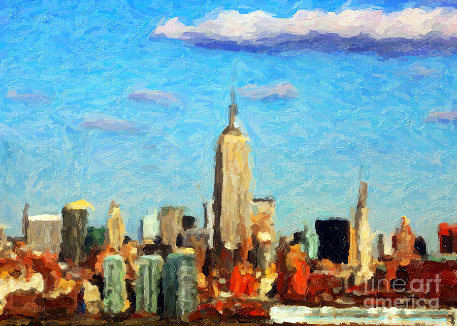 Big Apple Digital Art Digital Art  - Big Apple Digital Art Fine Art Print