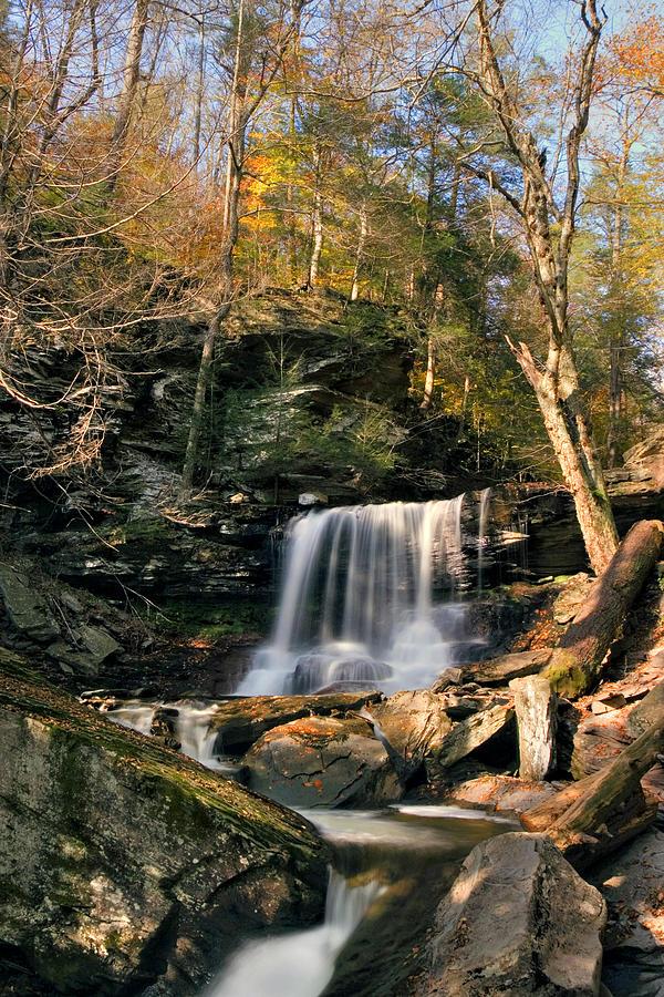 Big Autumn View At B. Reynolds Falls Photograph