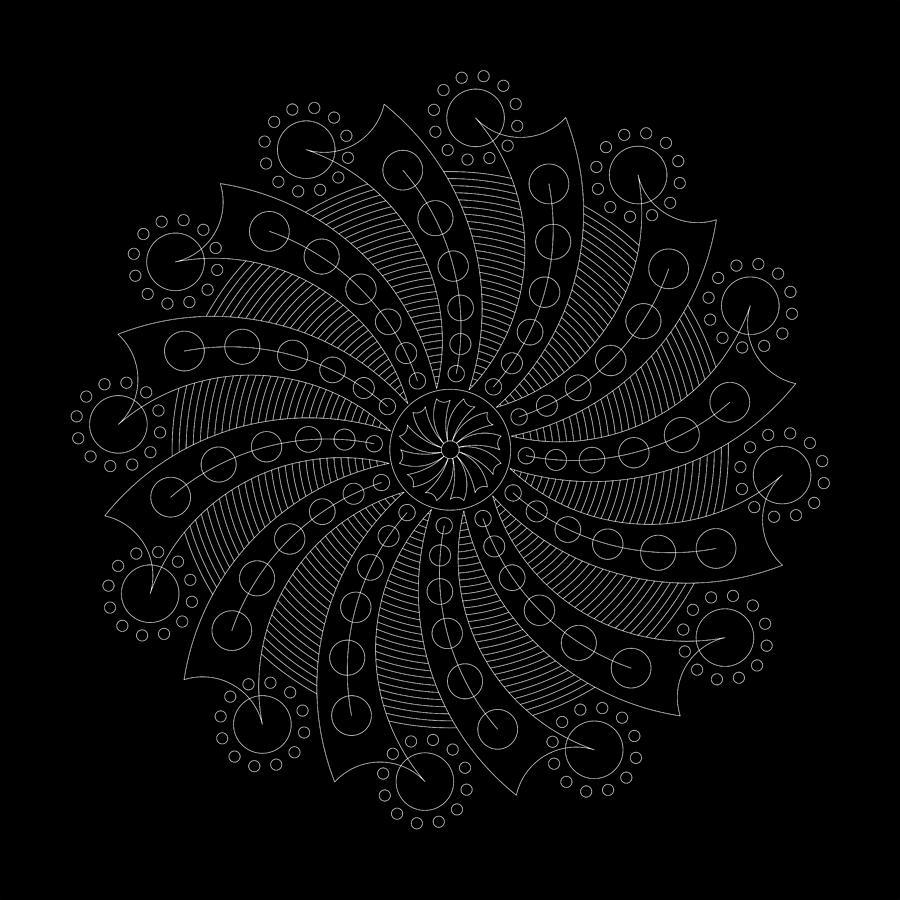 Relief Digital Art - Big Bang Inverse by DB Artist