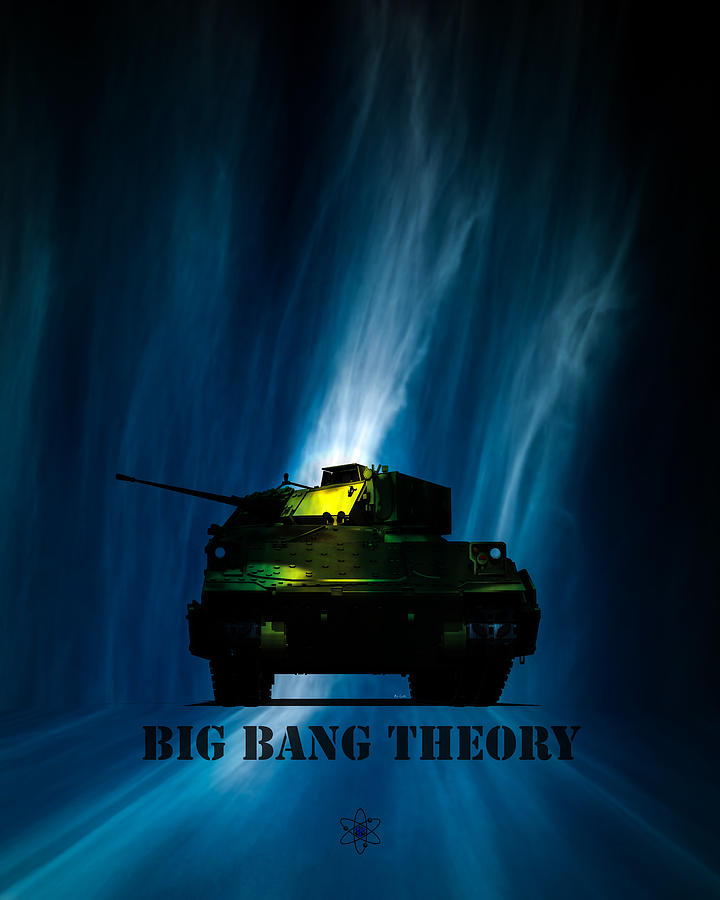 Big Bang Theory Digital Art  - Big Bang Theory Fine Art Print