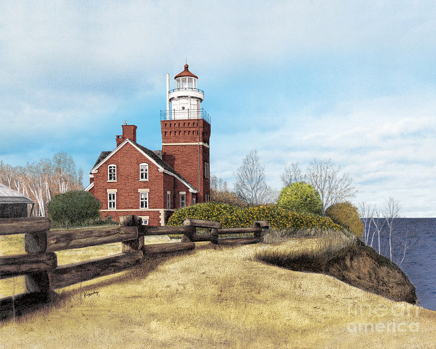 Big Bay Point Lighthouse Drawing