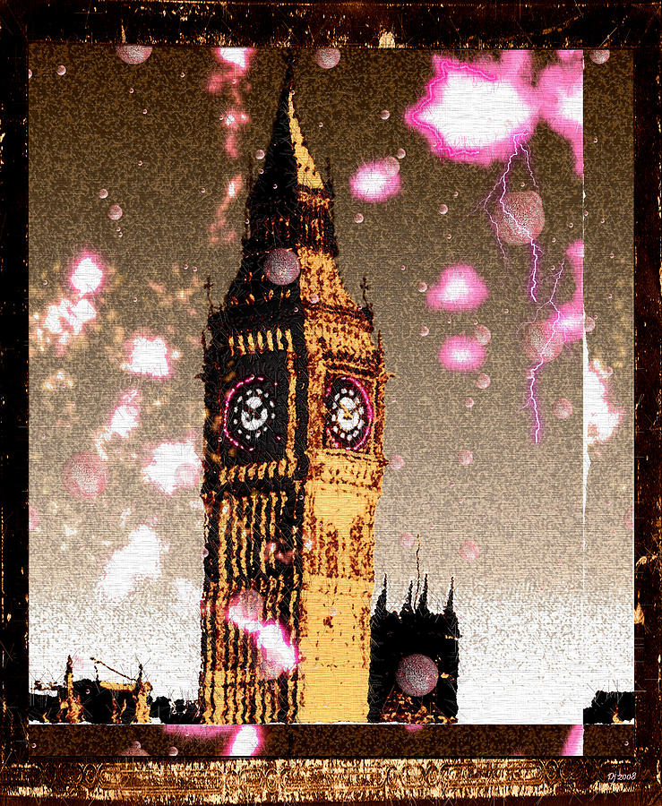 Big Ben Digital Art  - Big Ben Fine Art Print