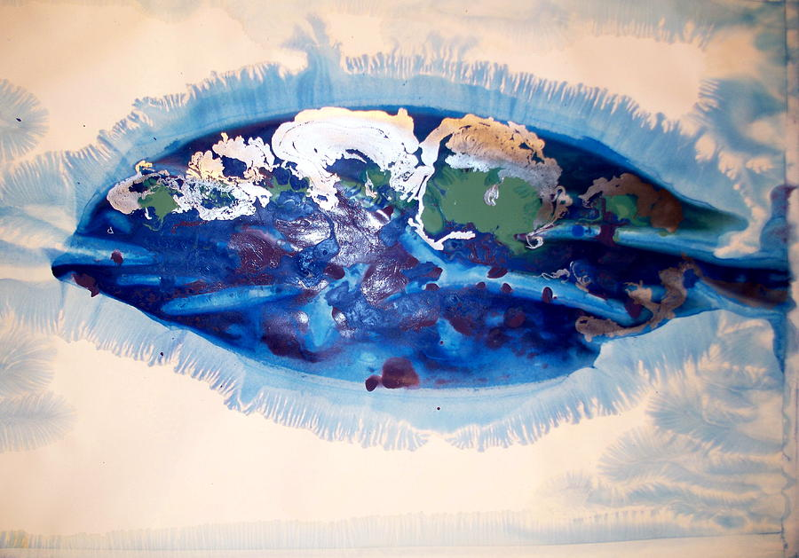 Big Blue Fish Painting By Michael Buese