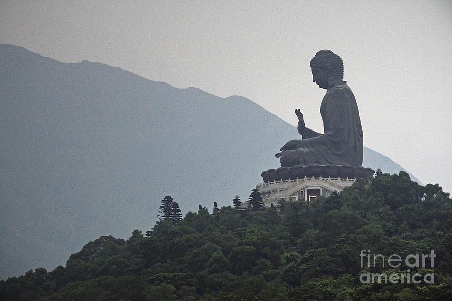 Big Buddha In Hong Kong Photograph