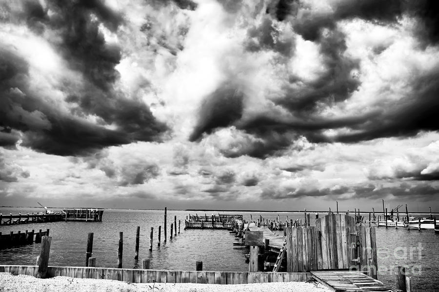 Big Clouds Little Dock Photograph