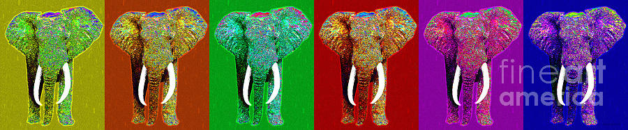 Big Elephant Six 20130201 Photograph  - Big Elephant Six 20130201 Fine Art Print