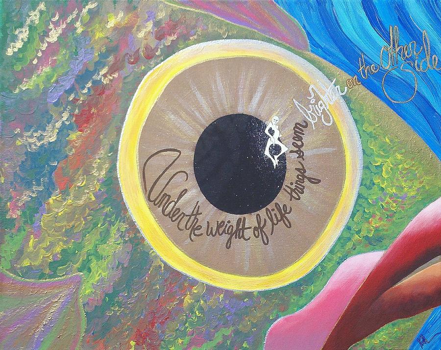 Fish Painting - Big Eyed Fish by Nina Giordano