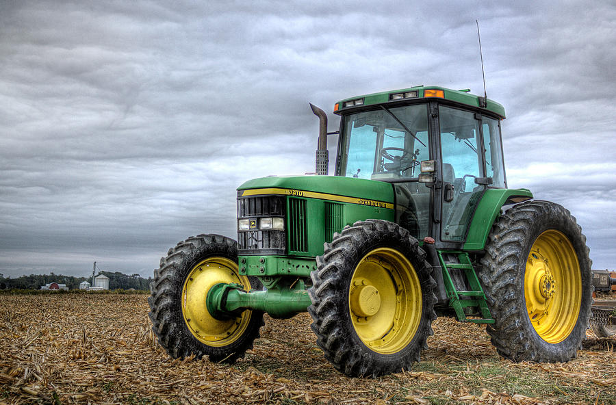 Big Green Tractor Photograph