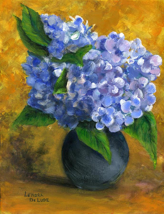 Flowers In A Vase Oil Painting Lenora De Lude