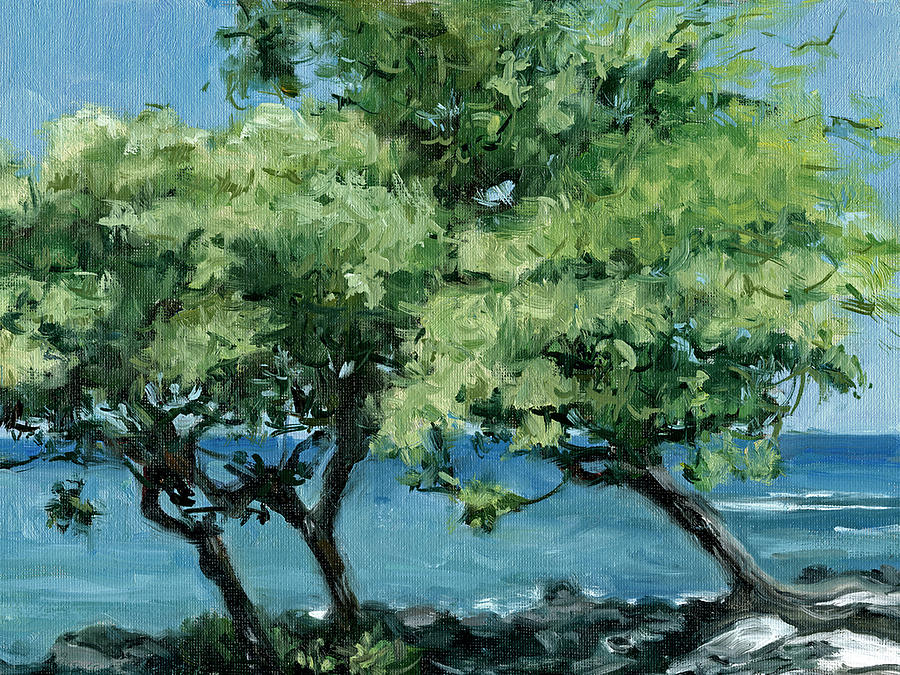 Tropical Painting - Big Island Trees by Stacy Vosberg