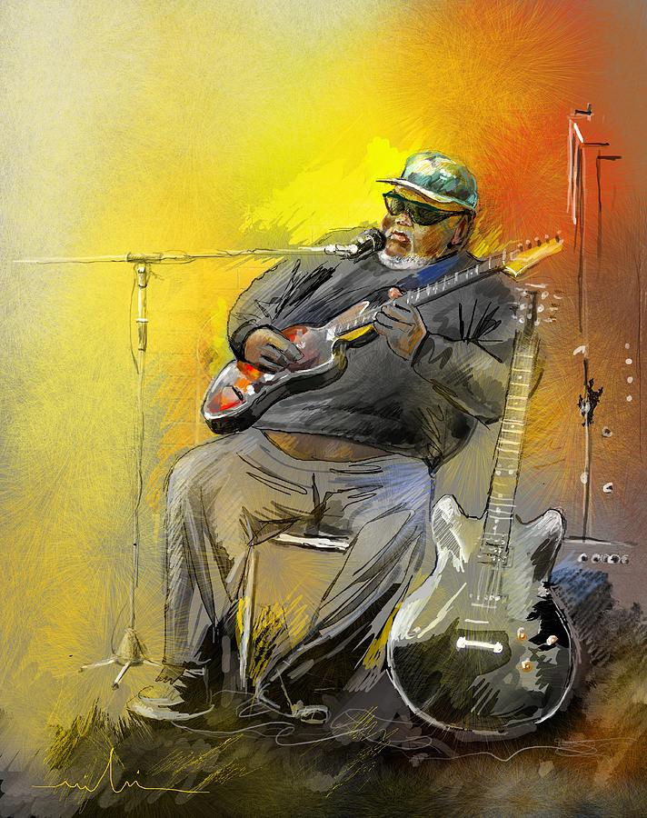Blues Painting - Big Jerry In Memphis by Miki De Goodaboom
