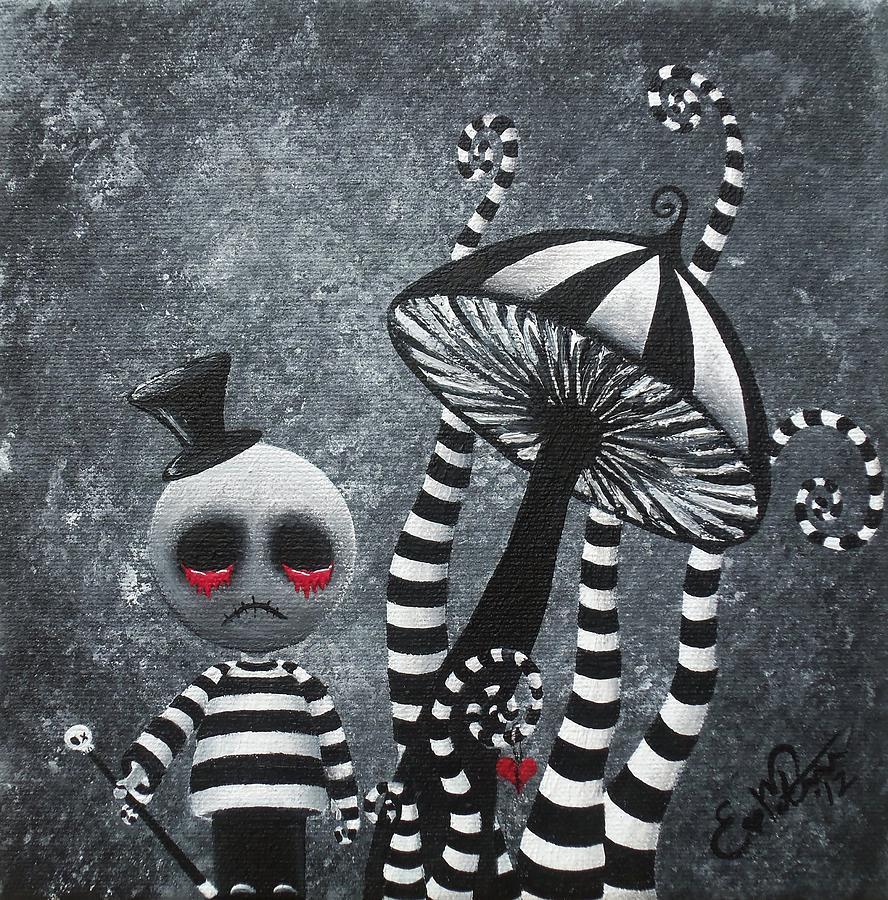 Dark Love Drawings Tim Burton Original Artwork