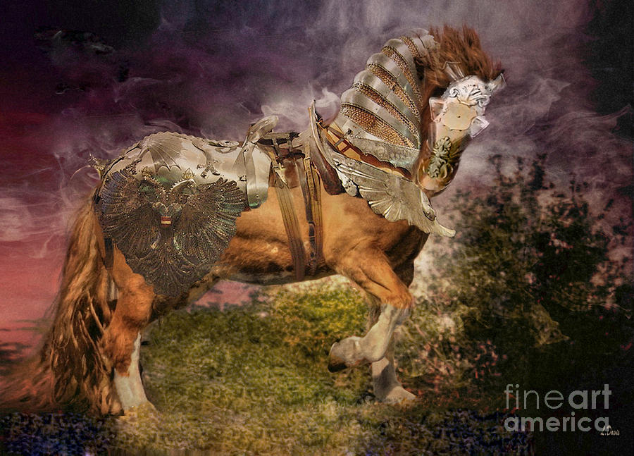 Equine Photograph - Big Max Dressed And Ready For Battle by Wobblymol Davis
