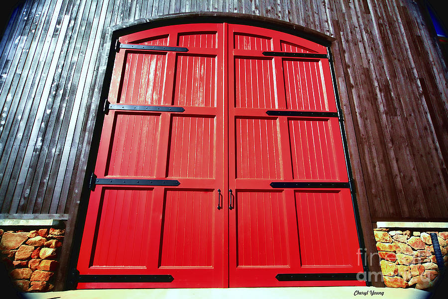 Big Red Doors Photograph  - Big Red Doors Fine Art Print