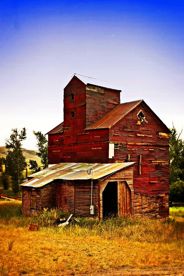 Big Red Grain Elevator Photograph
