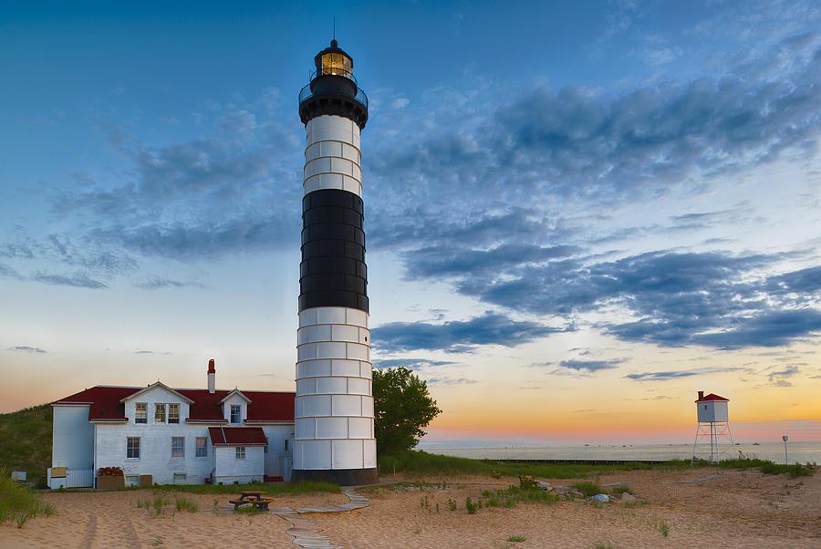 Big Sable Point Lighthouse Sunset Photograph