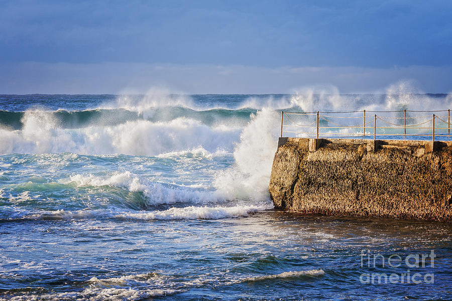 Big  Sea At Bondi Beach Australia Photograph