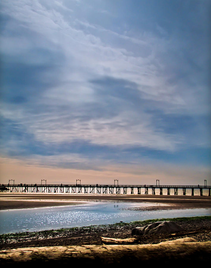 Pier Photograph - Big Skies Over The Pier by Eva Kondzialkiewicz