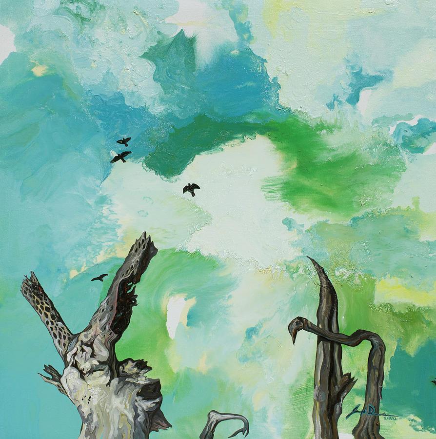 Sky Painting - Big Sky by Joseph Demaree