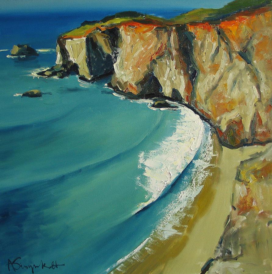 Seascape Painting - Big Sur by Alexei Biryukoff