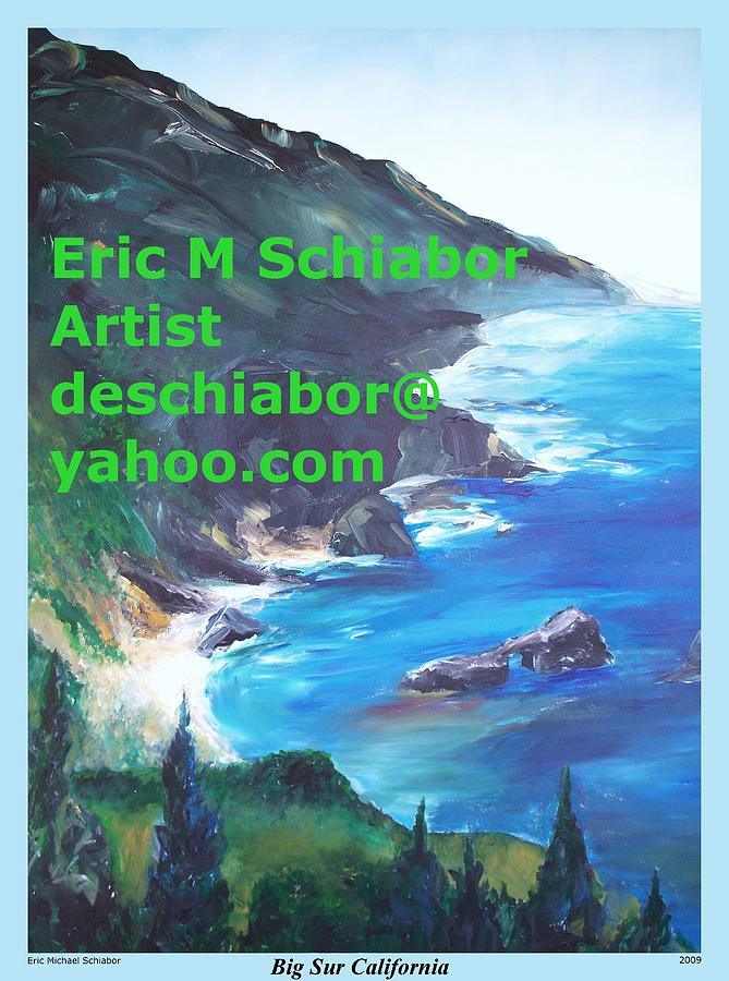 Big Sur Califorina Painting  - Big Sur Califorina Fine Art Print