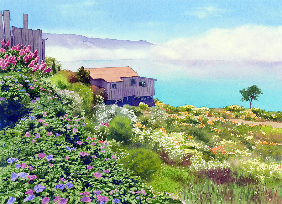 Big Sur Cottage Painting  - Big Sur Cottage Fine Art Print