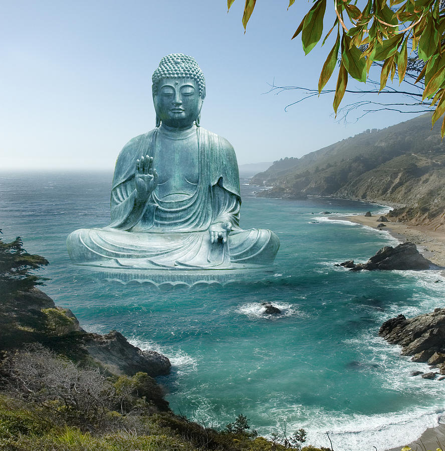 Big Sur Tea Garden Buddha Photograph