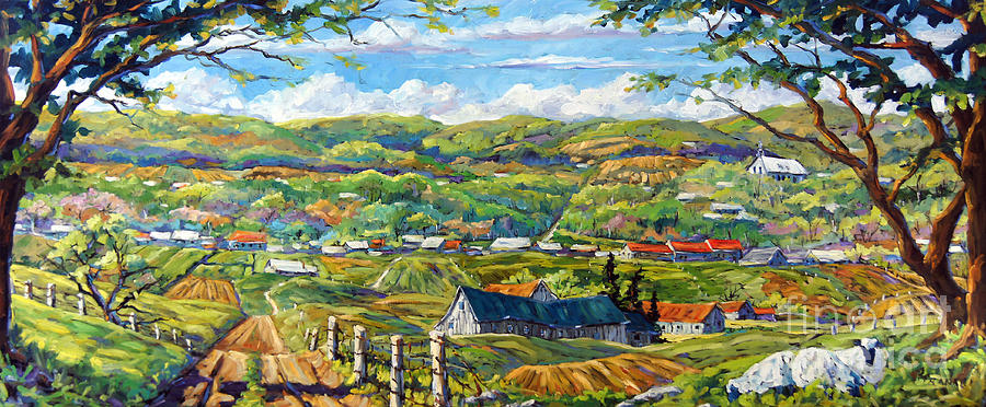 Big Valley By Prankearts Painting  - Big Valley By Prankearts Fine Art Print