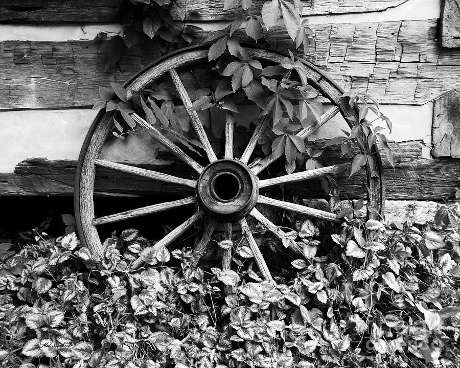 Big Wheel Bw Photograph