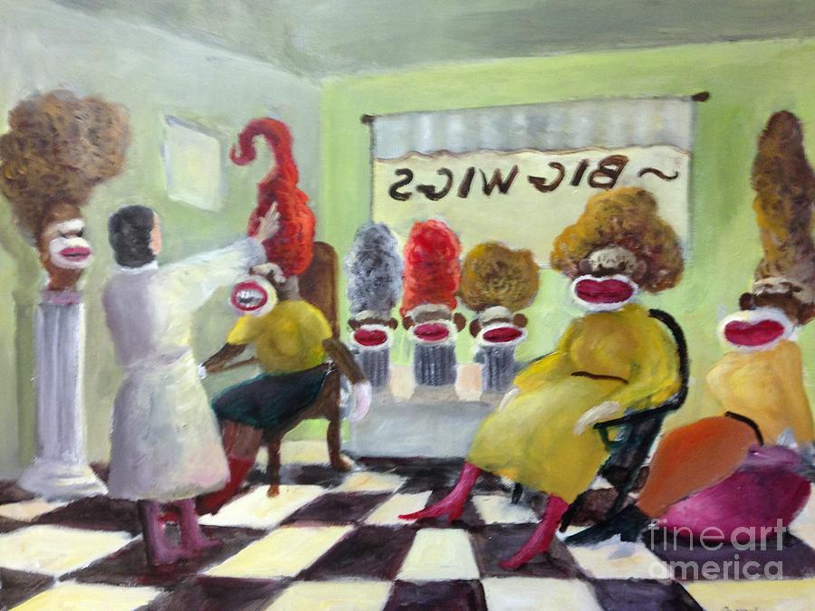 Big Wigs And False Teeth Painting
