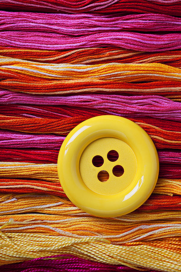 Big Yellow Button  Photograph  - Big Yellow Button  Fine Art Print