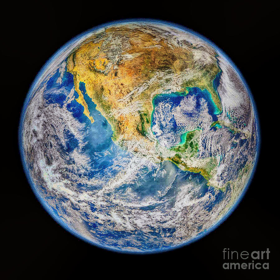 Biggest Image Of Earth Ever Nasa Photograph - Biggest Image Of Earth Ever N. A. S. A by Bob and Nadine Johnston