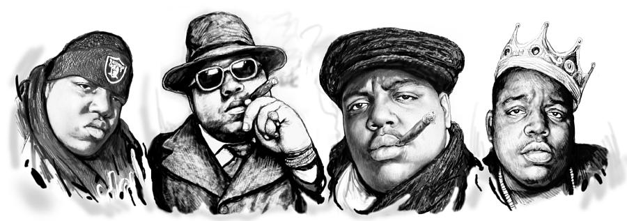 Biggie Smalls Art Drawing Poster Painting  - Biggie Smalls Art Drawing Poster Fine Art Print