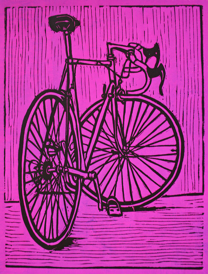 Bike 4 Drawing  - Bike 4 Fine Art Print