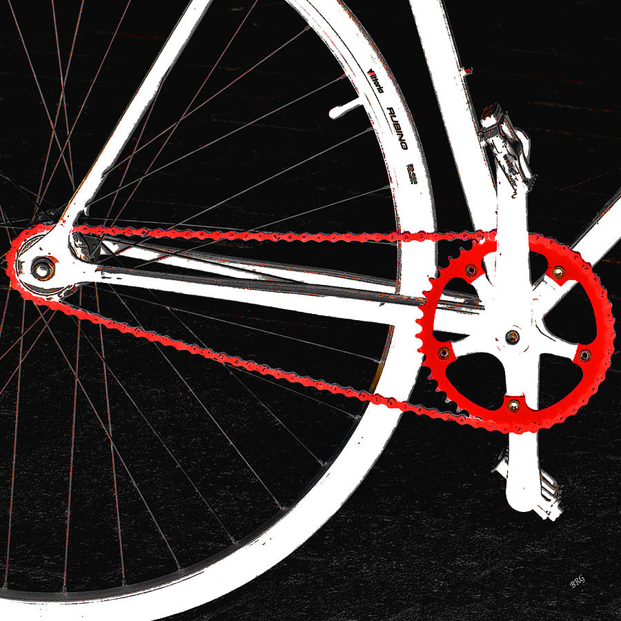 Bike In Black White And Red No 2 Photograph